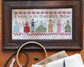 Cross Stitch Nation : Cross Stitch Pattern by Heartstring Samplery