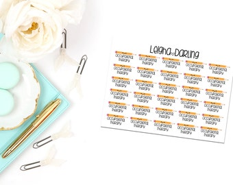Kawaii Occupational Therapy Planner Stickers