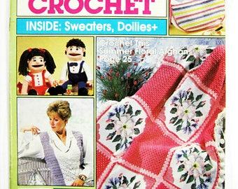 Women's Household Crochet, vintage crochet magazine, crochet patterns, summer 1990, summer crochet projects, thread crochet patterns