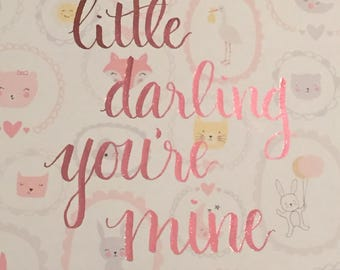 Little Darling foiled print