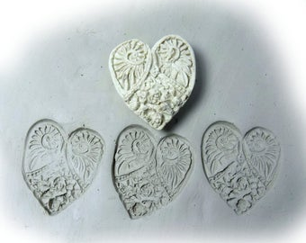 Bisque heart Stamps, clay tools -  Pattern Tool , Handmade Stamp, ceramic stamp, clay stamps -   ( # 292  )