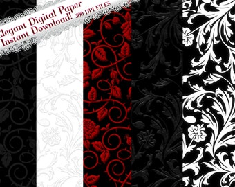 Clipart Digital Paper, Backgrounds, Graphic Backgrounds, Elegant Digital Papers