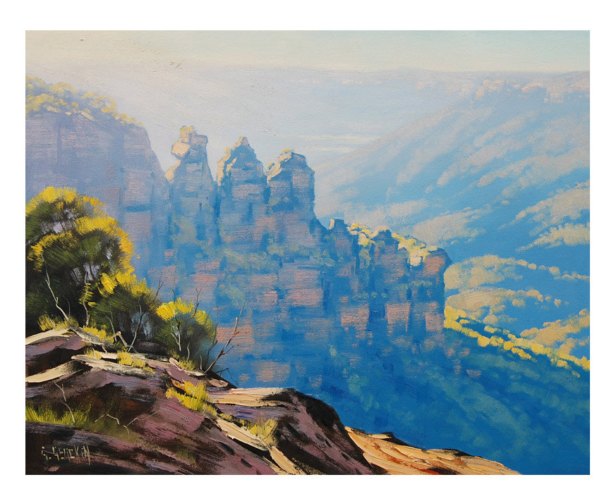 THREE SISTERS Painting Blue Mountains Painting Australian