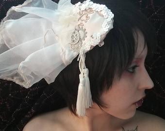 Ghostly Wedding Fascinator