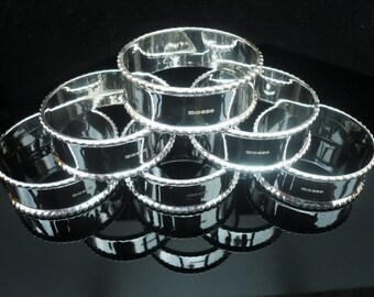 6 Sterling Silver Napkin Rings, Serviette Rings, Scottish, NEW, 25th Wedding Anniversary, Gift, Present, Hallmarked Super Quality BNIB