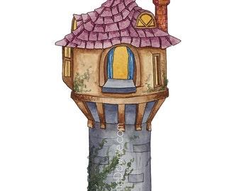 Tangled Tower print