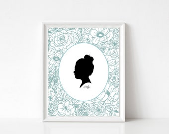 Custom Silhouette, 16 Color Options, Child Silhouette, Silhouette, Children Silhouette, Silhouette Portrait, Custom Portrait, Personalized
