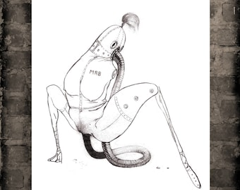HOSIERY A figure drawing print, from the fantasy art series Bodyscape.