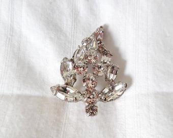 Weiss Rhinestone Leaf Pin