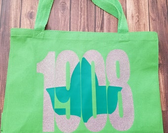 1908 Ivy Green Tote Bag - Alpha Kappa Alpha Paraphernalia