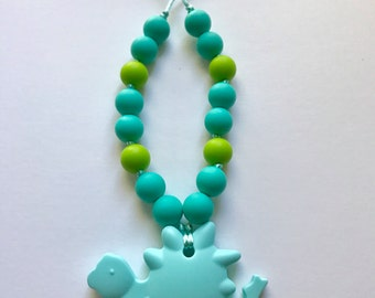 Chompy Dino Pendant-Medium Turquoise