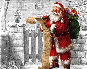 631 the list of the Santa pattern X 4 paper towel