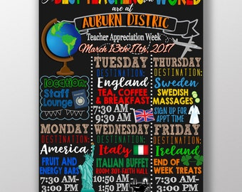 Best teachers in the world theme, teacher appreciation week themes, best teachers in the world theme, teacher appreciation theme ideas