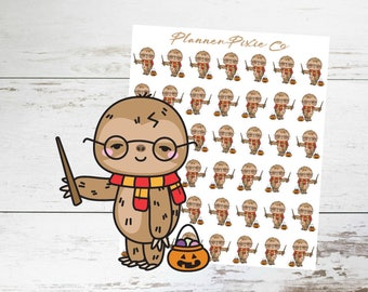 Sloth Planner Stickers // Halloween // Costume // Trick or Treat // 069