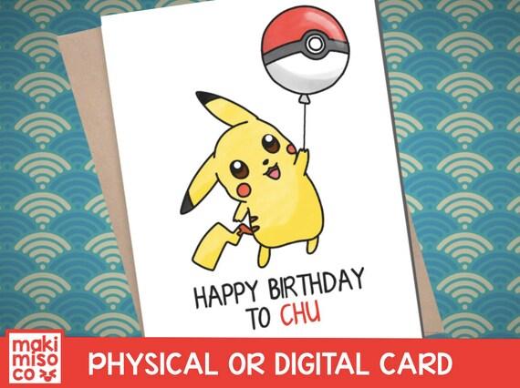 Pikachu birthday card love birthday boyfriend girlfriend te gusta este artculo bookmarktalkfo Gallery