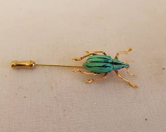Beetle Brooch beetle pin BUGPIN