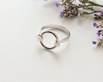 Minimalist Ring / Silver Ring / Circle Ring / Best Friend Gift / Dainty Ring / Infinity Ring / Simple Ring