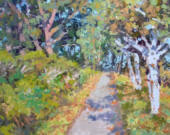 Path Through the Trees original oil painting by Andrew Daniel