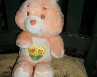 Vintage - Pink Care Bear - Friend  Bear - 1983