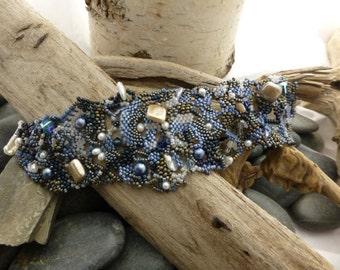 Free Form Peyote Beaded Bracelet
