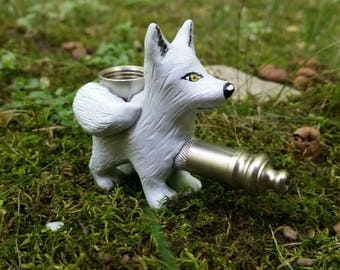 White Wolf Pipe Smoking Pipe Ghost Pipe Dire Wolf
