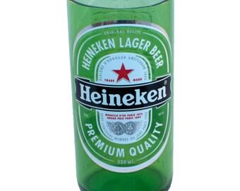 Set of 2 Heineken Stubby Beer Bottle Drinking Glasses - Recycled / Upcycled