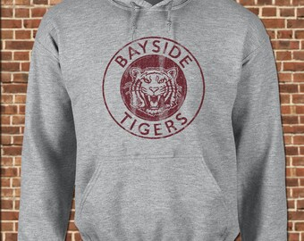 BAYSIDE TIGERS mens Hooded Sweatshirt all sizes available funny saved by zack morris slater the bell vintage gym pullover hoodie UG478