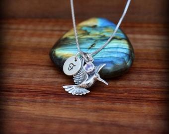 Hummingbird necklace,