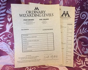 Ordinary Wizarding Levels O.W.L. test