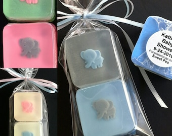 Twin Baby Shower Elephant Soap Favors