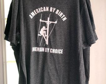 American lineman tshirt