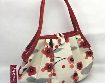 Women Bags Women Bags Granny Bag Japanese style fabrics Beige Ume Blossom - Free Shipping!