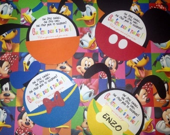 Mickey and Friends invitations