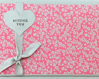 Missing You; handmade card