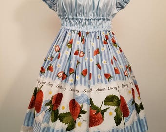 Blue Sweet Berry Onepiece Dress