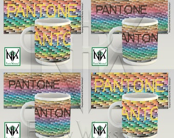 PANTONE >CMYK Colour Bridge Coated Colour Book< Mug