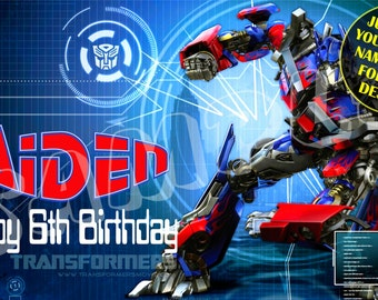 Transformers banner Etsy