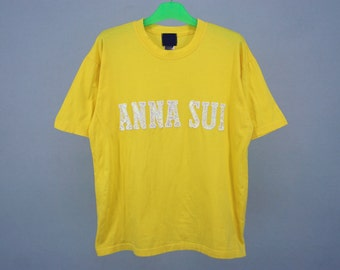 Anna Sui Shirt Mens Size L Vintage Anna Sui T 80s 90s James Coviello for Anna Sui Vintage T Made in Korea by Jerzees