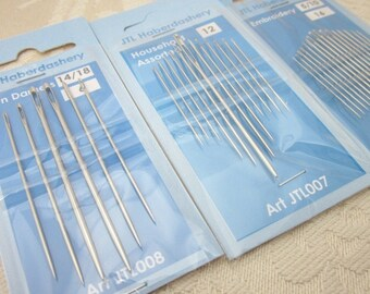 3 Packs Mixed Needlecraft Sewing Needles