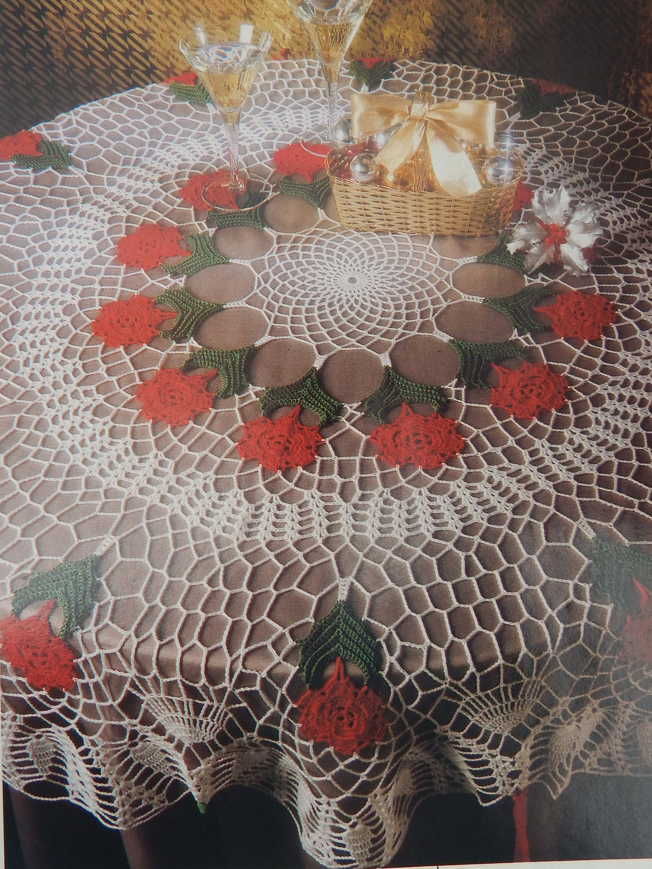 Vintage Crochet Doily Patterns w/ Diagrams/ Magic Crochet Magazine ...