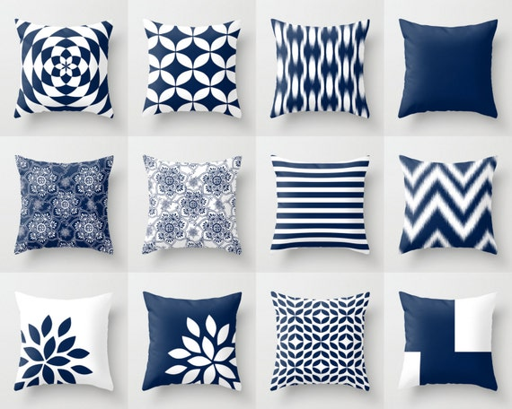 Blue Throw Pillows Blue Pillows Navy Blue Decorative Pillow