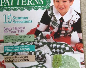 McCalls Crochet Patterns 1992 summer fruits heirloom back to school sweaters magazine, vintage crochet patterns