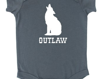 """Howling Coyote """"Outlaw"""" Baby Bodysuit"""