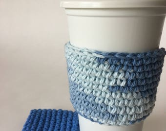 2 Coffee Cup Sleeves Cozy Kitchen and Dining Drink Ware Housewarming Gift Free Shipping