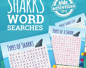Shark Word Search Printable Games