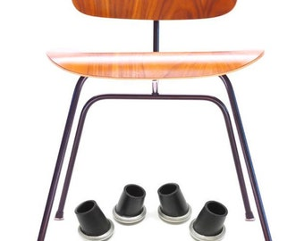 For Eames Herman Miller H Base, DCM / LCM Angled Rubber Boot Glides Feet  Replacement SKP Spare Parts