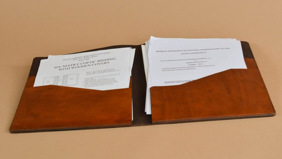leather folder presentation folder resume folder document carrier - Resume Folder