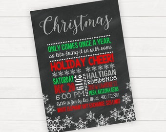 Christmas Party Invitations Christmas Party Invite Holiday Party Invite Holiday Party Invitation Printable Christmas Invitations