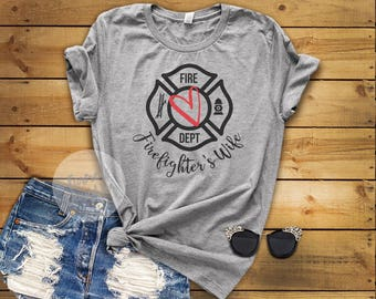 Firefighter Wife Red Line T-Shirt