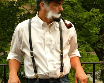 Leather Dress Suspenders...Enough Said